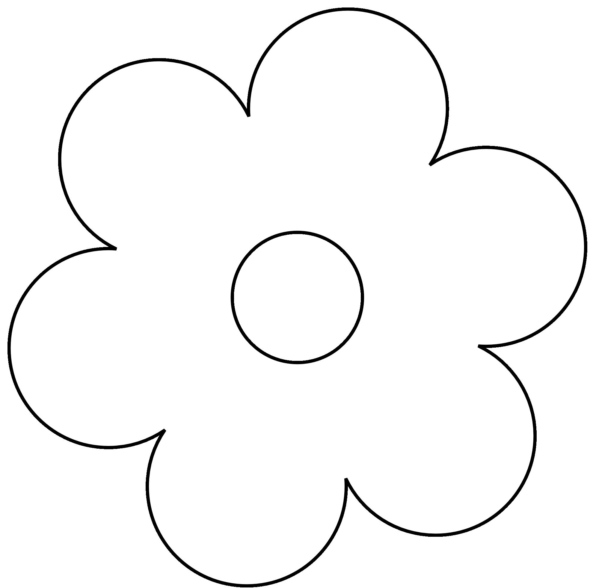 Flower Clip Art Black White