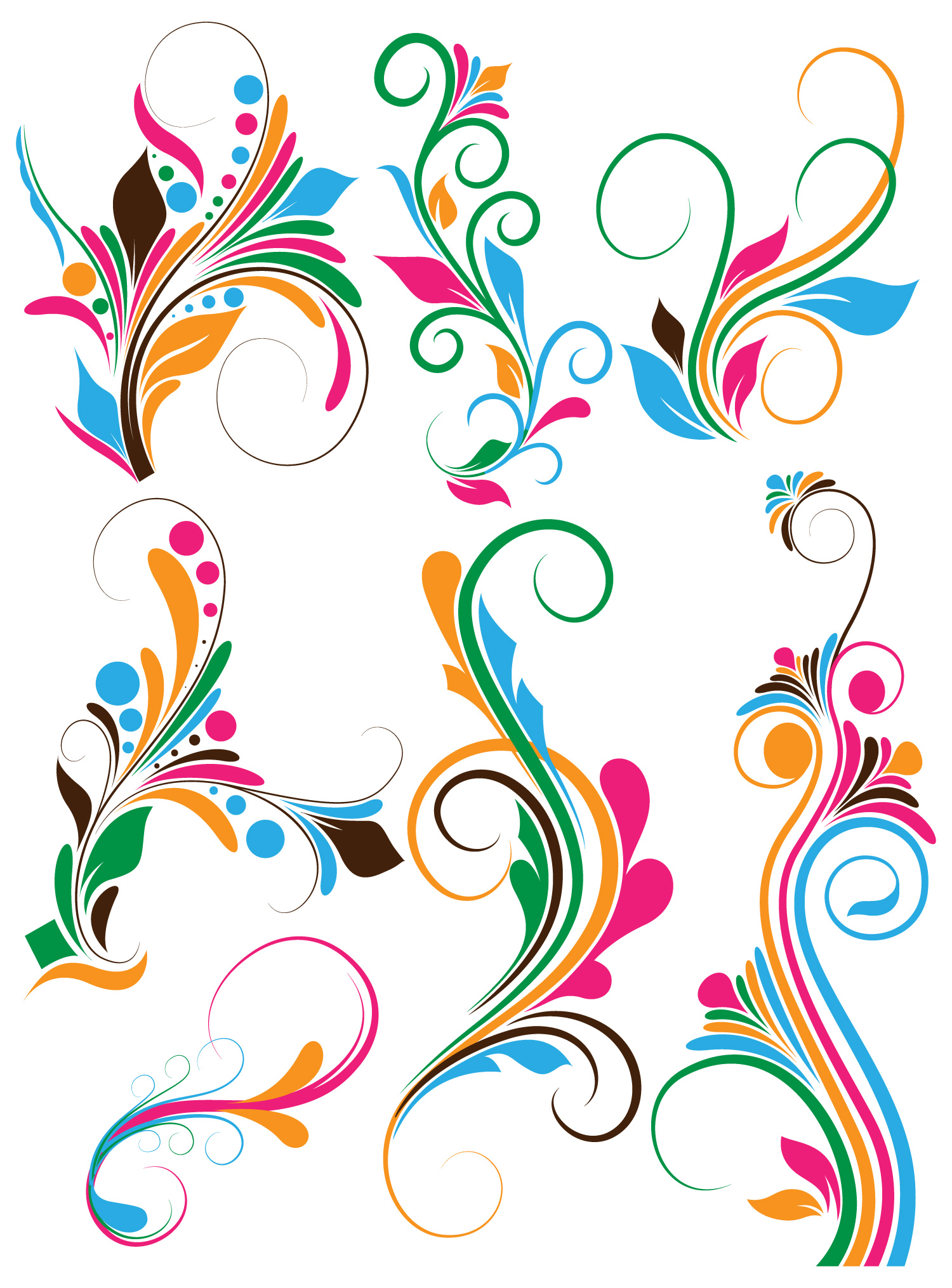 19 Vector Flourish Designs Png Psd Images - Blue Abstract ...