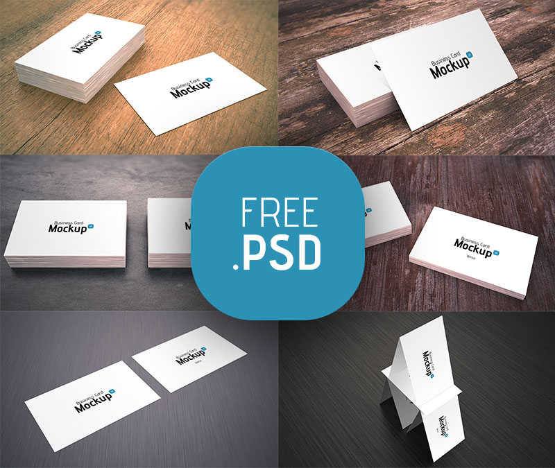 9 White Business Card Mockup PSD Images