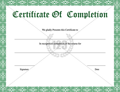 12 certificate of completion psd images internship