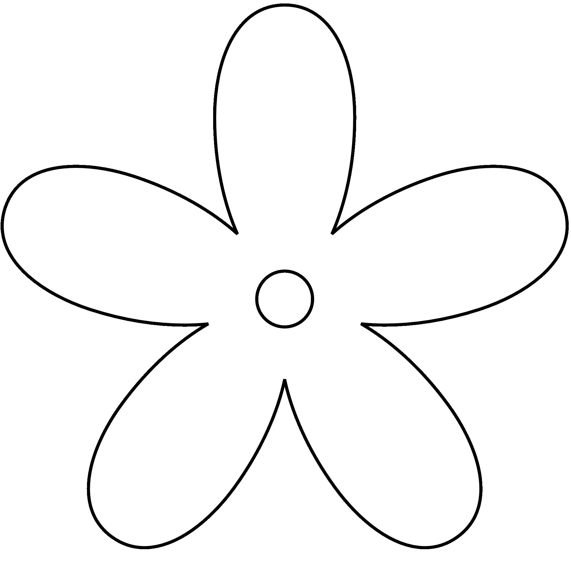 Free Flower Clip Art Black and White