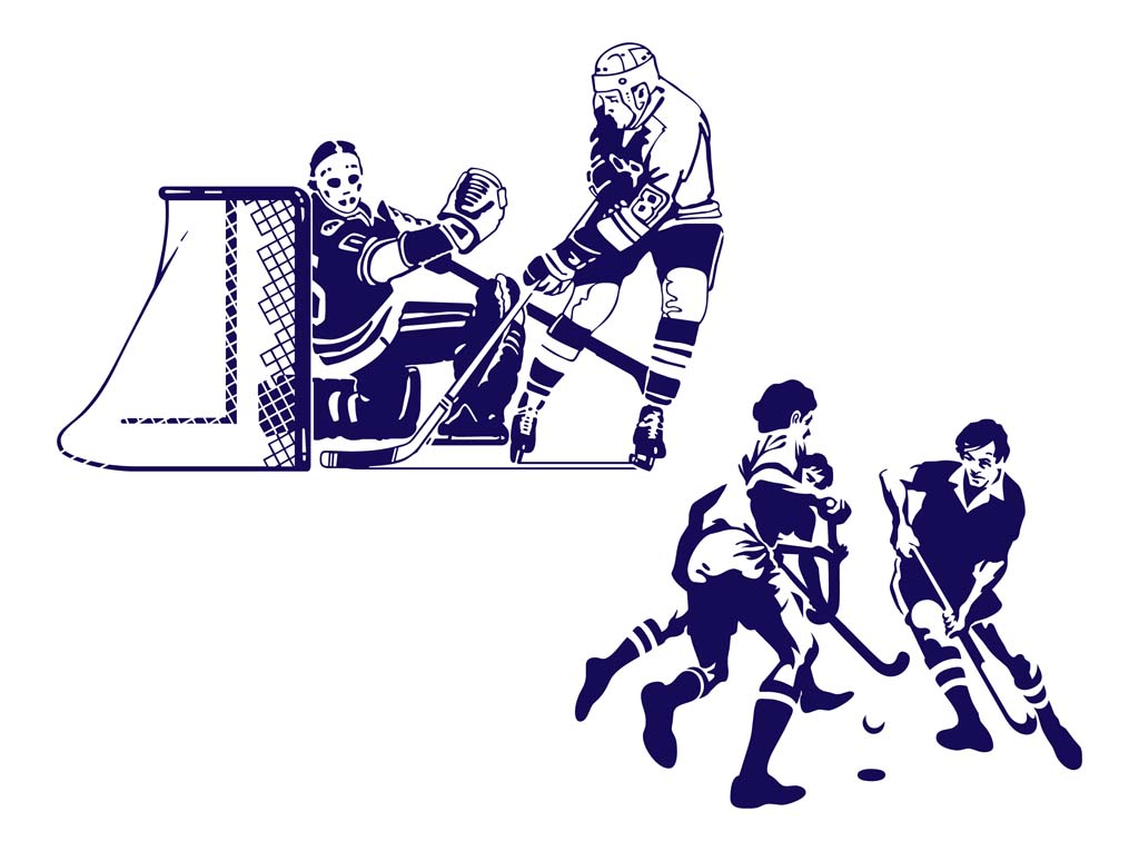 17 Hockey Vector Art Images