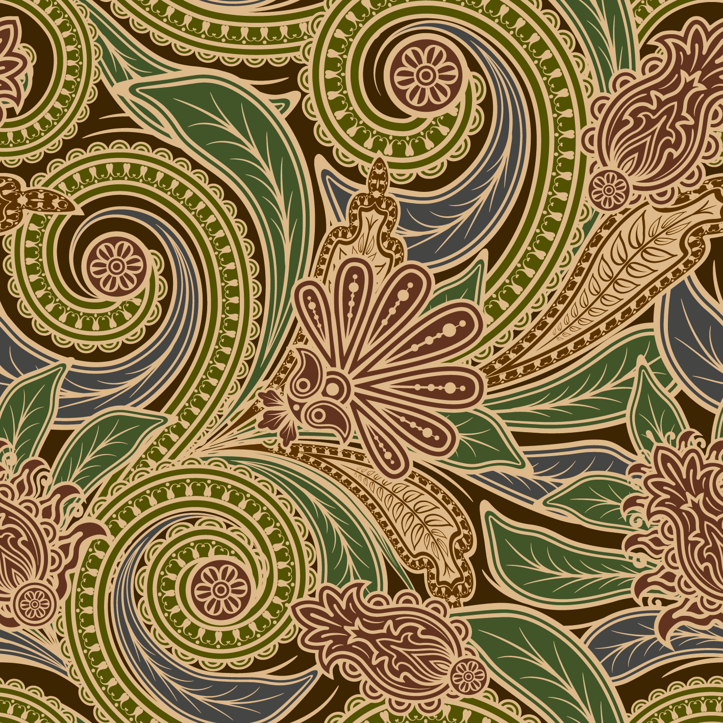 Free Paisley Vector Patterns
