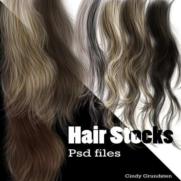 Free Photoshop PSD Hair Files