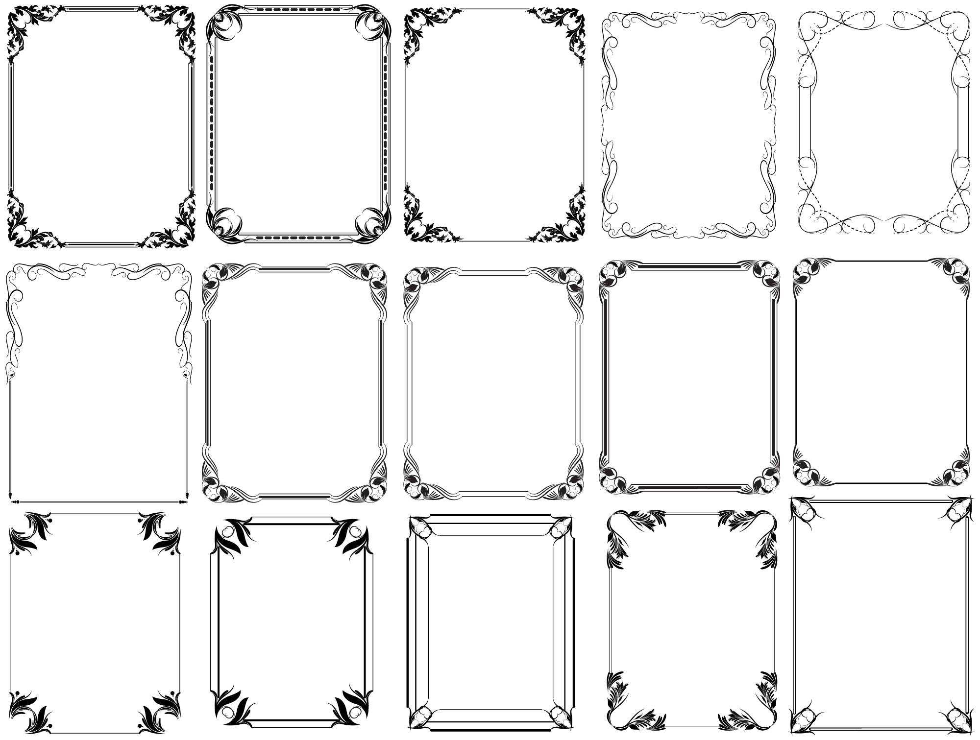 10 Free Photoshop Frames PNG Images