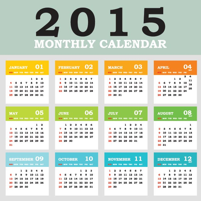 Free Printable Calendars Templates 2015