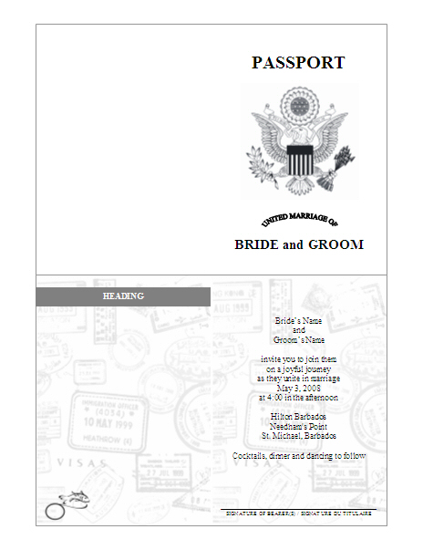 photo about Free Printable Passport Template titled 11 U.S. Pport PSD Template Pictures - United Suggests