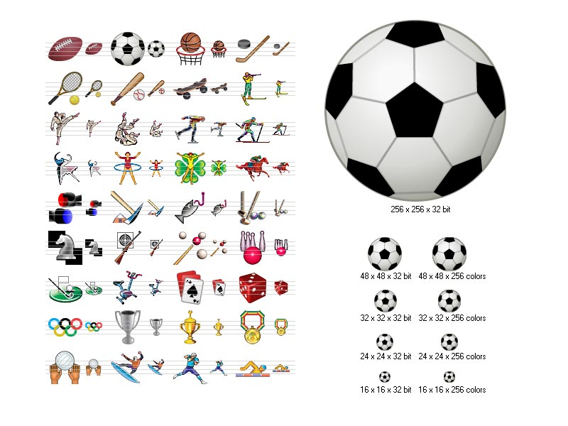 16 Sports Icon Symbols Download Images