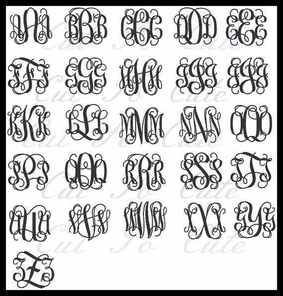 13 Free Vine Monogram Font SVG Images