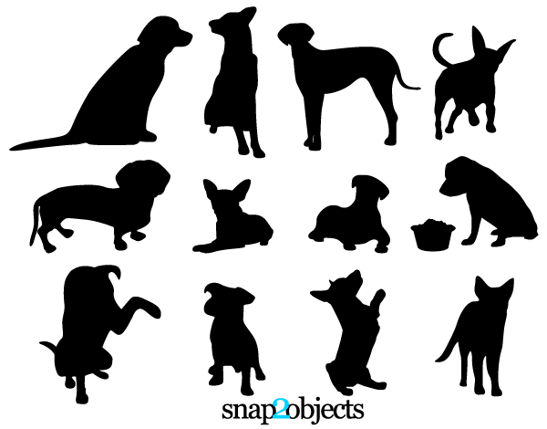 19 Dog Silhouette Vector Free Images