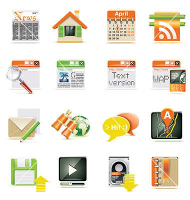 7 Web Page Icon Set Images