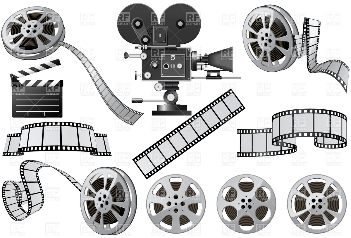 Free Vector Movie Film Clip Art