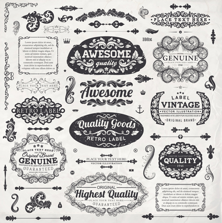Free Vector Vintage Labels
