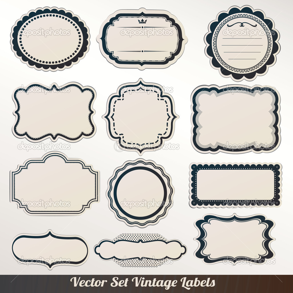 15 Vectors Label Frame Images