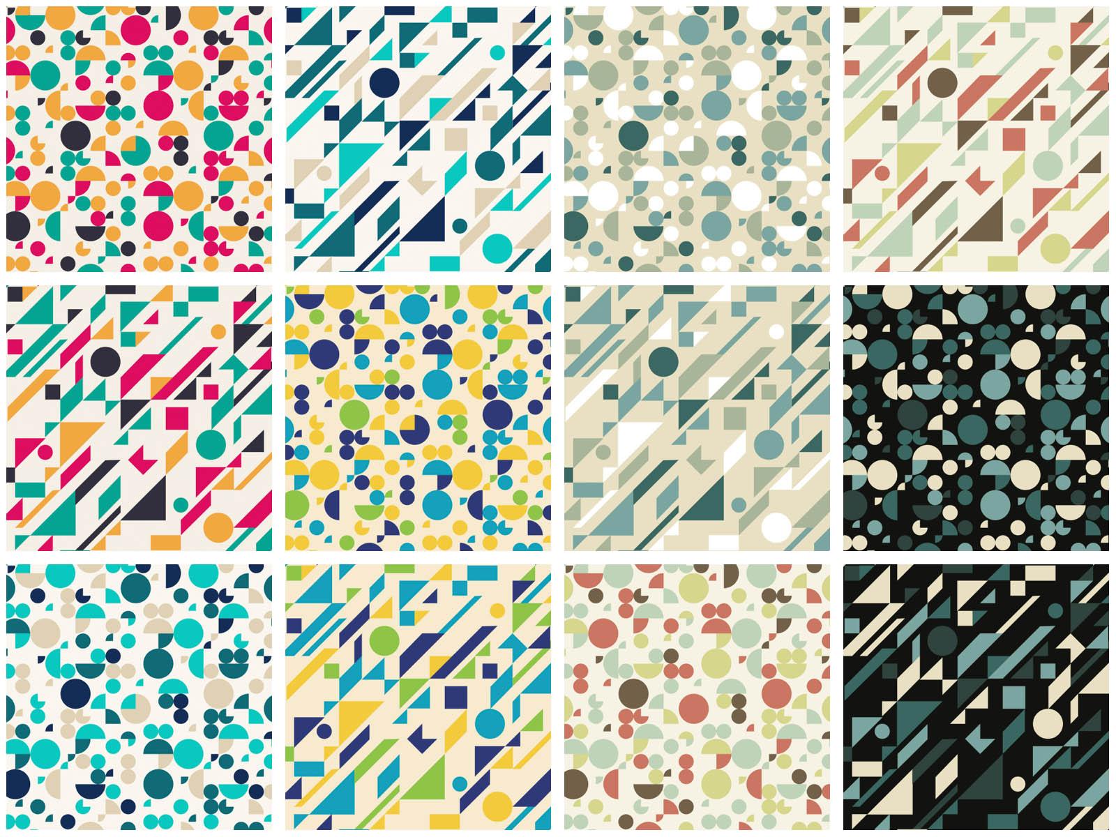 Geometric Design Patterns Vector
