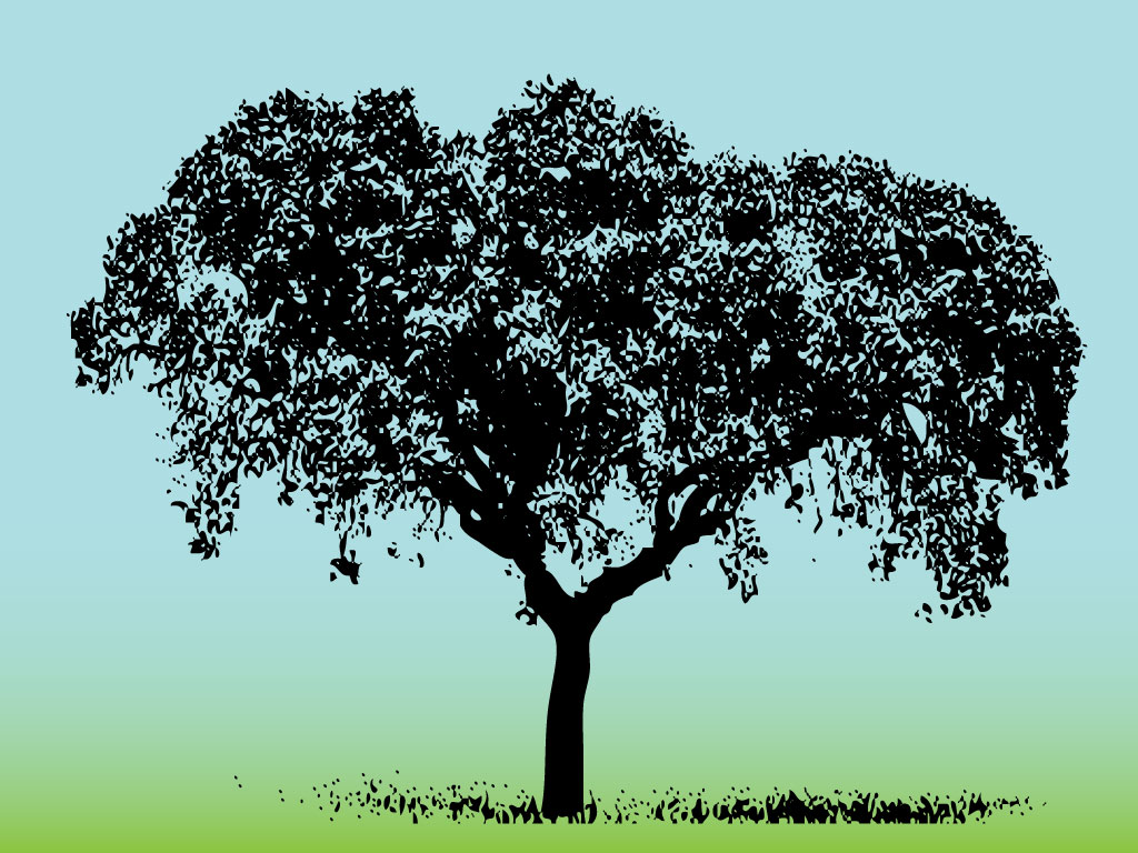 Grass and Tree Clip Art