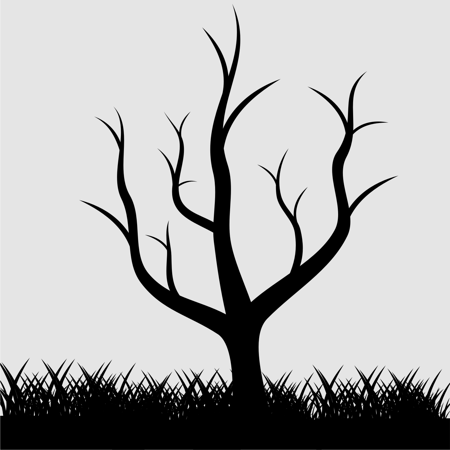 Grass Silhouette Vector Free