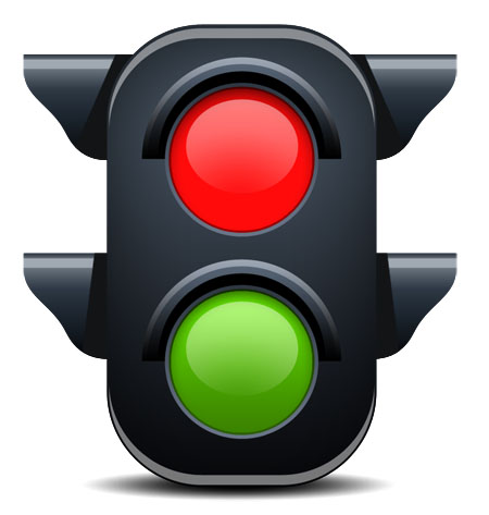 Green Traffic Light Icon