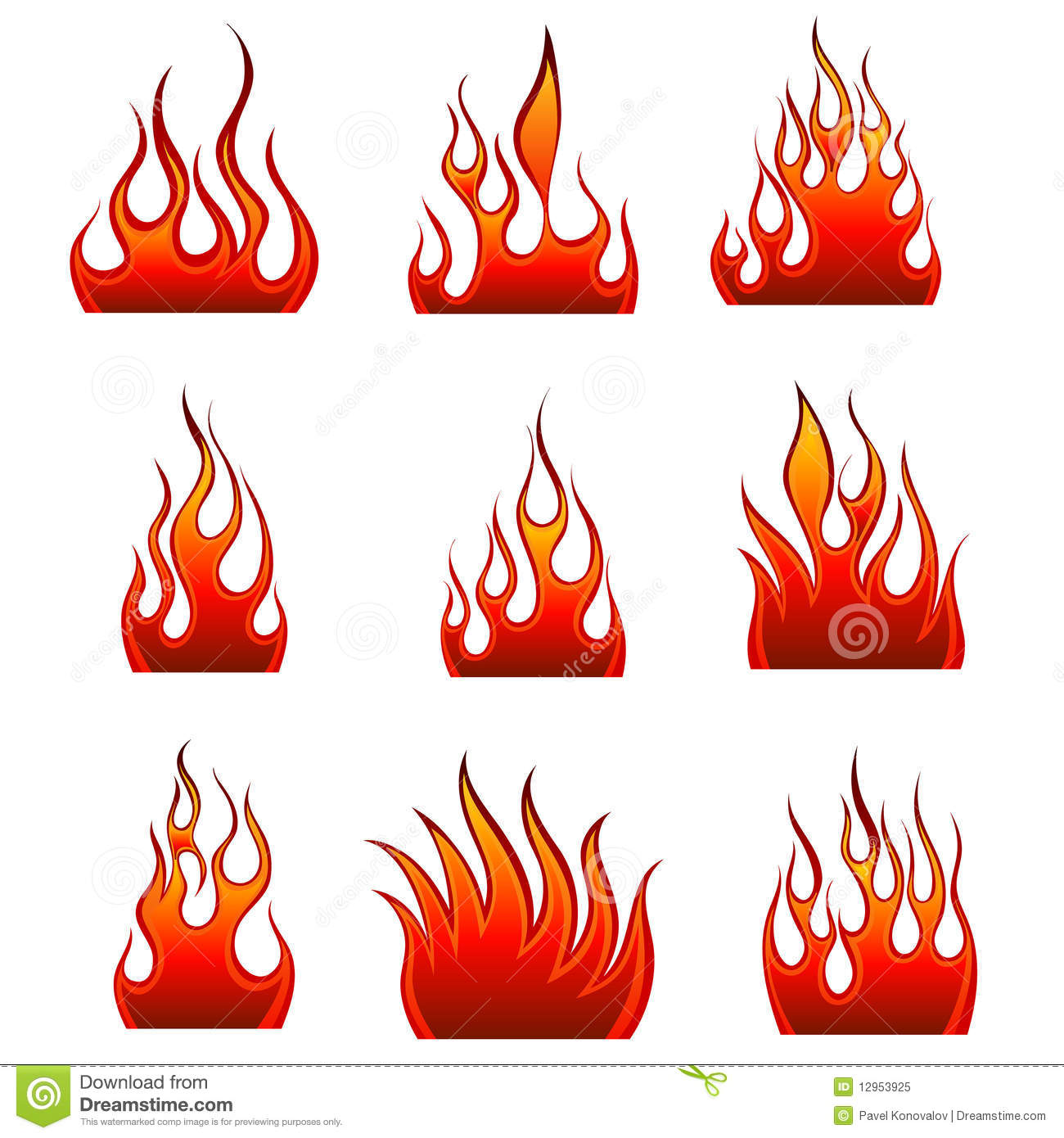Icon Fire Vector
