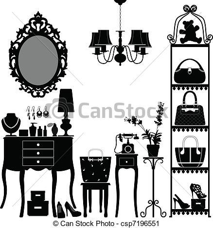 16 Interior Design Art Vector Graphics Images Interior Design