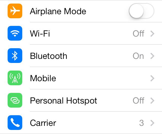 10 IOS 7 Settings App Icon Images - iPhone iOS 7 Settings