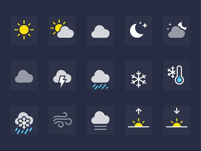 5 Beweather Icon Sets Images