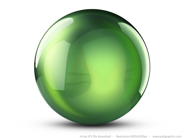 15 Green 3D Ball Icons Images - Green Ball Icon, Logo with ...