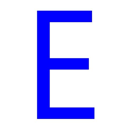Maroon Letter E