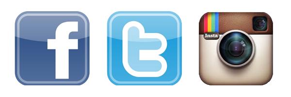 Media Facebook Twitter Instagram Icons