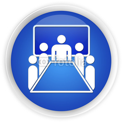 11 Blue Meeting Room Icon Images