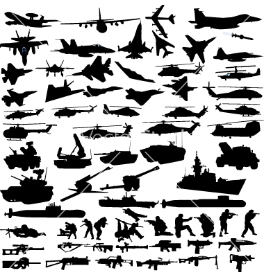 Military Icons Vector Free