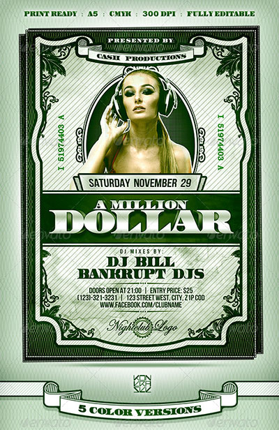 Money Party Flyer Template
