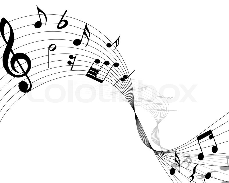 Music Note Vector Background Designs