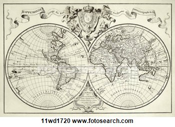 10 vintage world map vector images vintage black white world map old world map clip art gumiabroncs Image collections