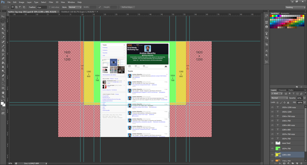 Photoshop Twitter Template