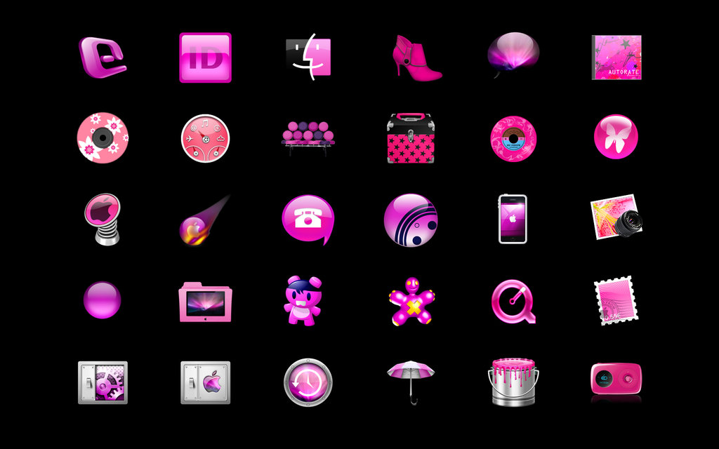 10 Pink Computer Icons Images