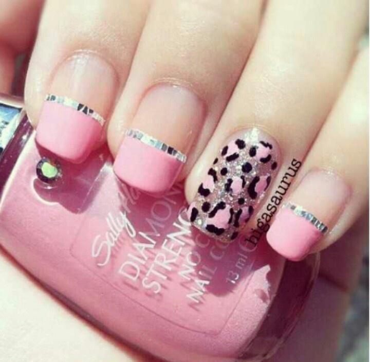 15 Pink Leopard Nail Designs Images Pink Leopard Print Nails