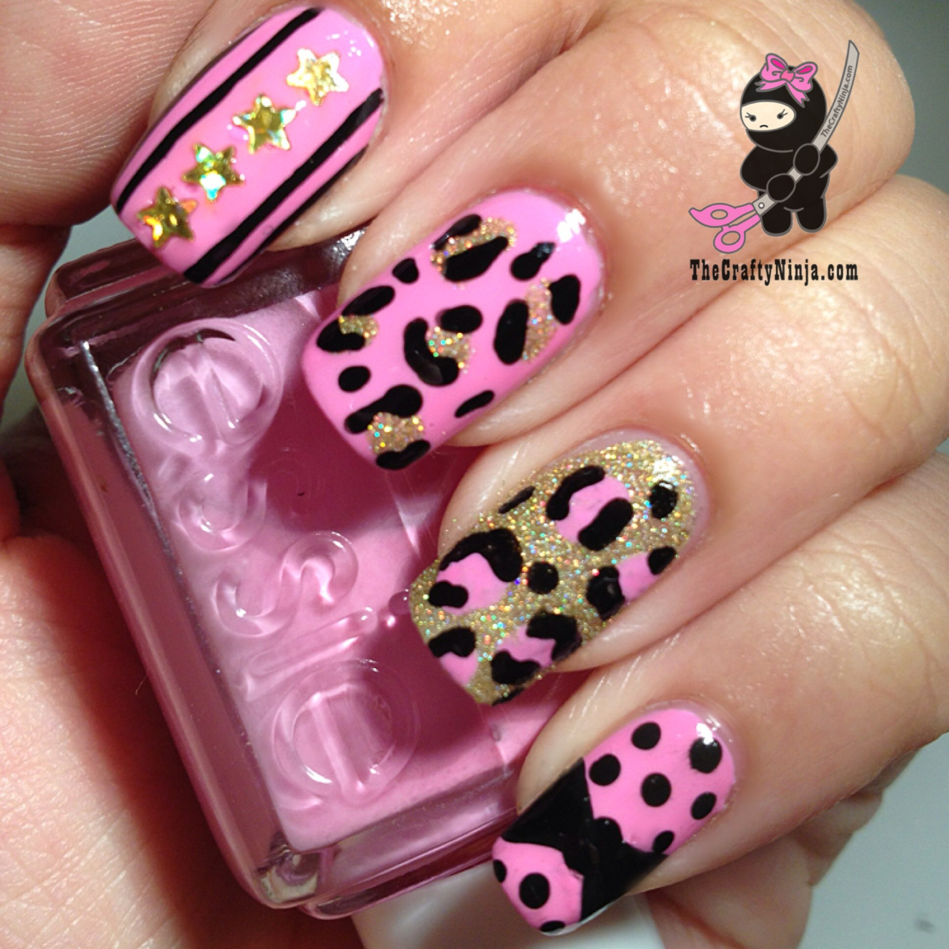 15 Pink Leopard Nail Designs Images