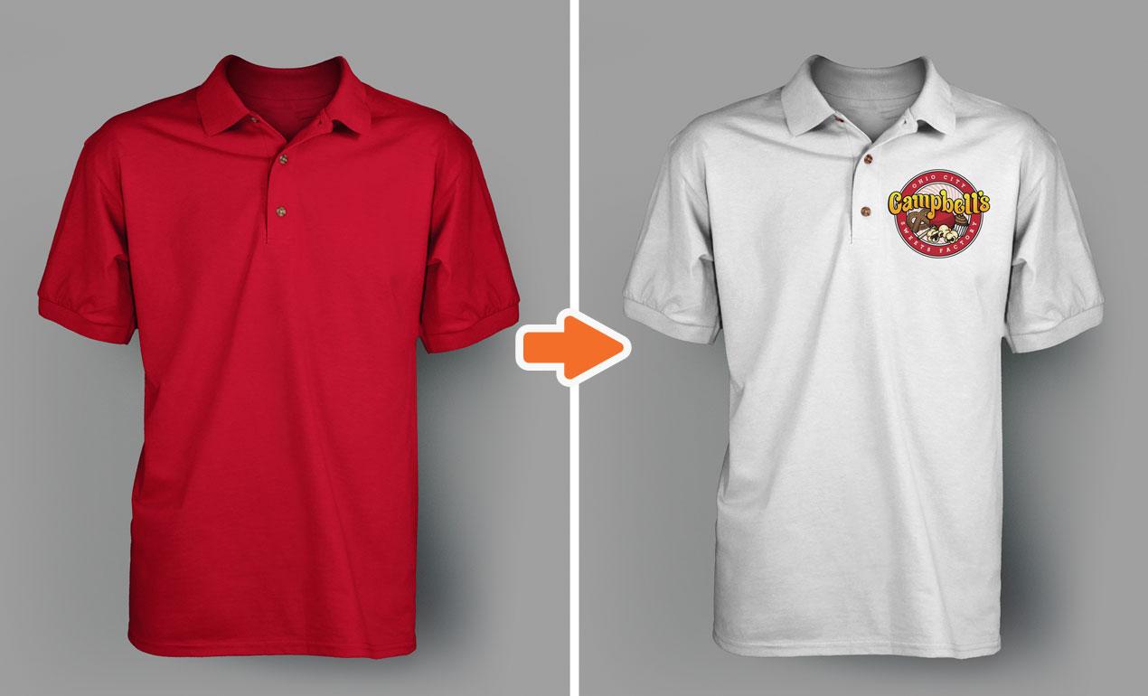 Polo Shirt Template Photoshop