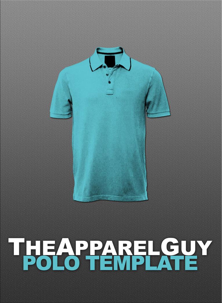 Polo Shirt Template PSD