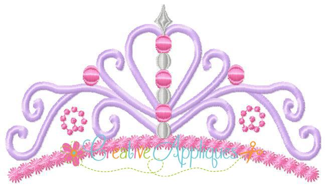 12 Princess Crown Applique Embroidery Design Images Princess Tiara