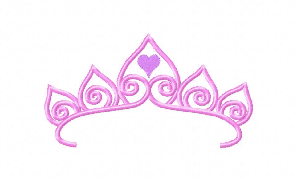 Princess Crown Embroidery Design