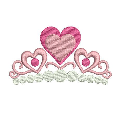 Princess Crown Machine Embroidery Design