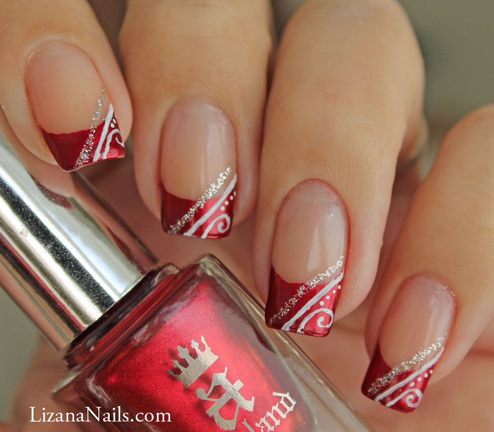 15 Red French Manicure Nail Designs Images