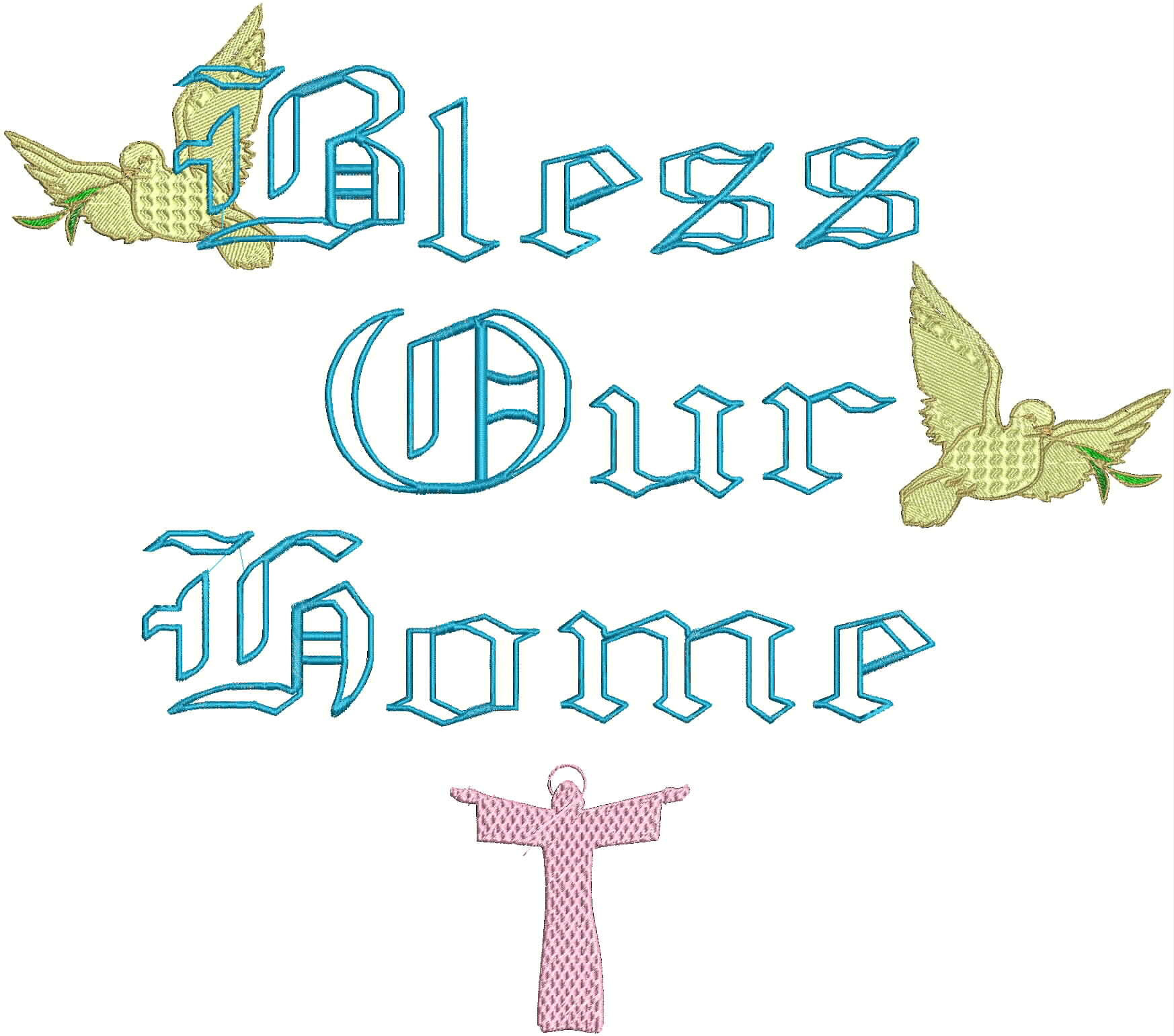 Religious fonts for embroidery images