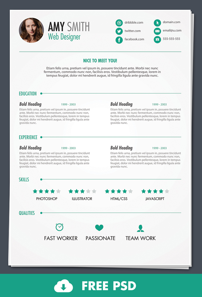 resume templates free download - Free Downloadable Resume Templates