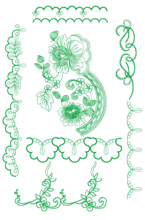 Border machine embroidery designs images celtic