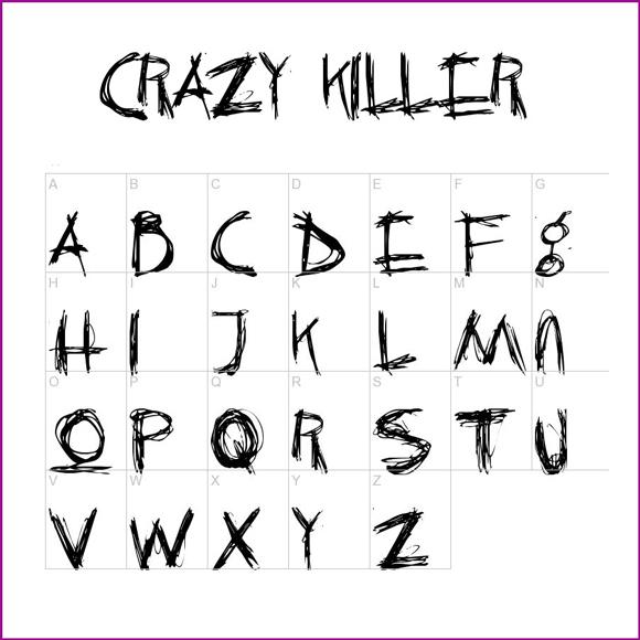 16 Creepy Font Alphabet Images