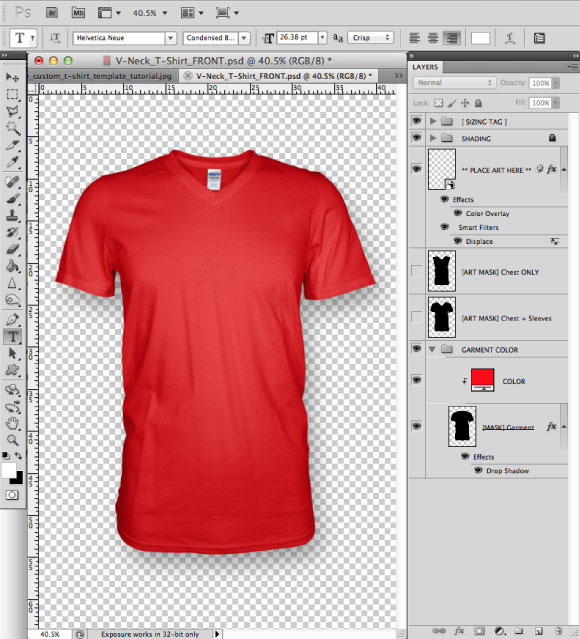 15 Adobe Photoshop T-Shirt Template Images
