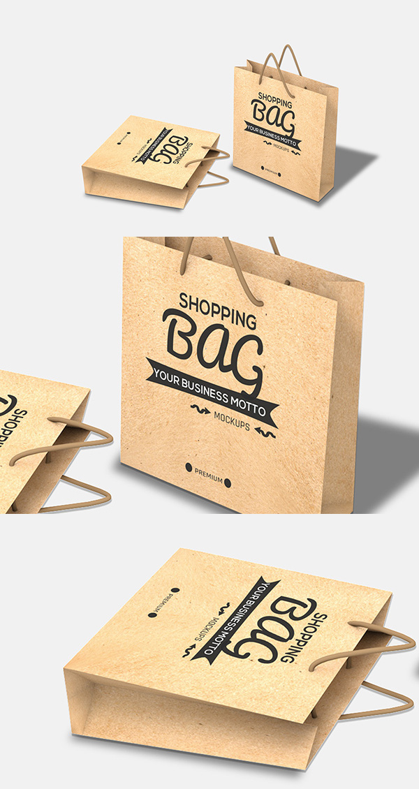 Shopping Bag PSD Mockup Free